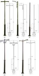Опоры консольные уличного освещения,  фланцевые ОКС 1ф-6, 0(133-108мм)